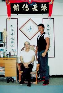 Steven Chan bei seinem Meister Chow Sze Chuen in Kowloon