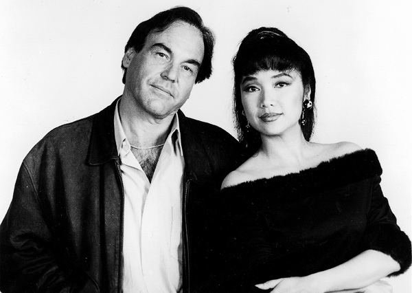 Tiana Silliphant mit Oliver Stone